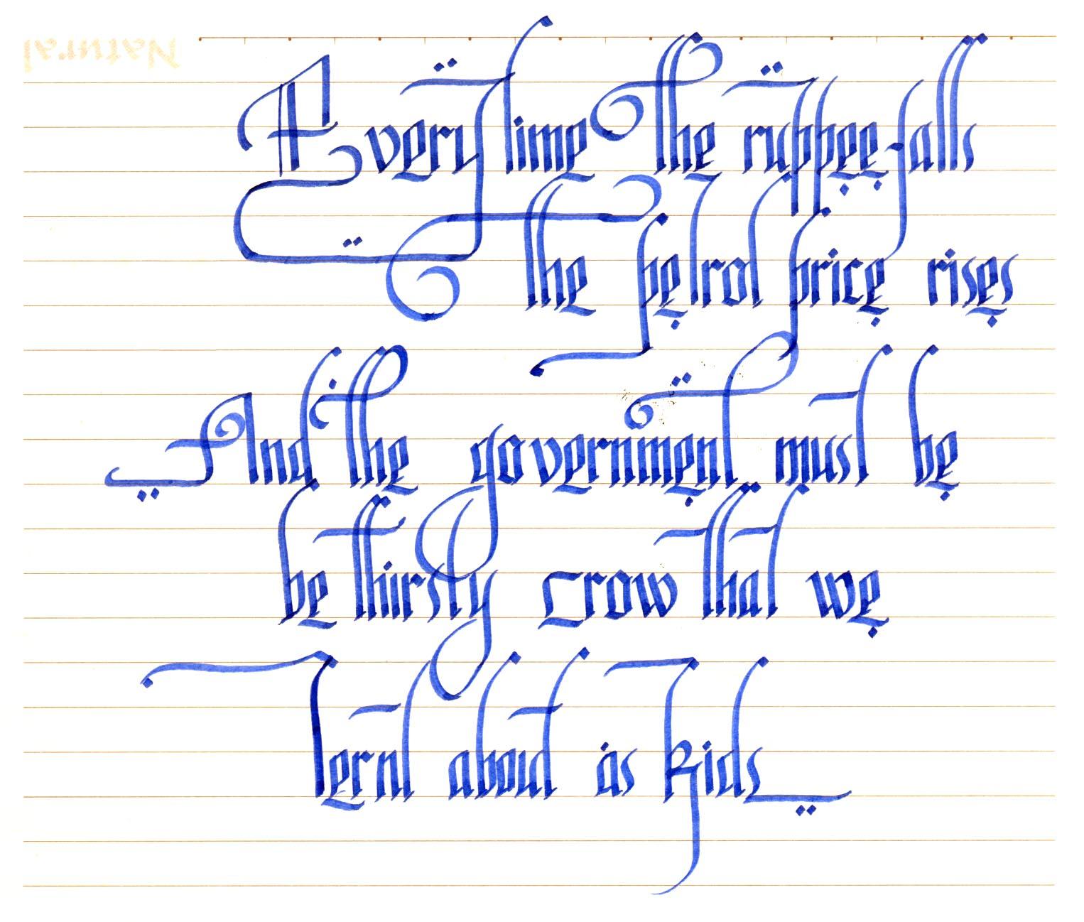 calligraphy as i learn – 2 | raam raam